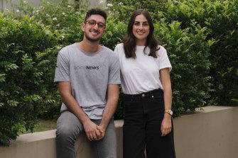 Sam Koslowski and Zara Seidler, founders of The Daily Aus media site.