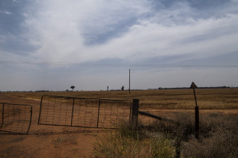 Dry and dusty: NSW cabinet ministers visited Nevertire on a road trip from Dubbo to Bourke.