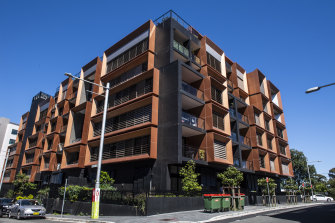 'Mirage': the Meadowbank apartment building at the centre of the allegations.