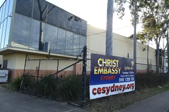 Christ Embassy Church in Blacktown held a service with 60 people on Sunday.