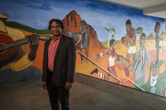 Vincent Namatjira has brought some of the desert country to the Big Smoke.