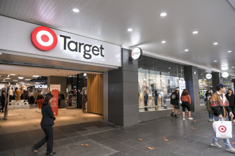 Target on Bourke Street on Friday.