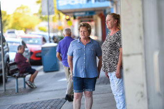 Christine Waterhouse and Susan Broadbent fear for Moe's future.