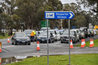 Four drive-through testing sites have been set up in Shepparton.