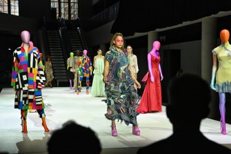 Models take to the stage at the Powerhouse on Tuesday.