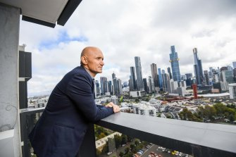 Ashley Williams, pictured at Botanic apartments in Southbank, runs Evolve Developments.