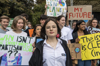 Strike organiser Daisy Jeffrey.