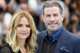 Kelly Preston, pictured with her husband John Travolta at the Cannes Film Festival in 2018, has died at age 57.