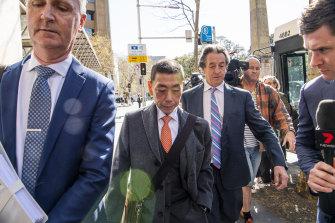Former Labor MP Ernest Wong arrives at the Independent Commission Against Corruption.