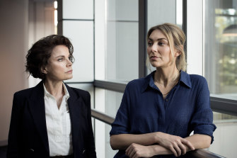 Sigrid Thornton and Kate Jenkinson in <i>Amazing Grace<i/>.