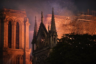 It took hours to bring the fire at Notre-Dame under control.