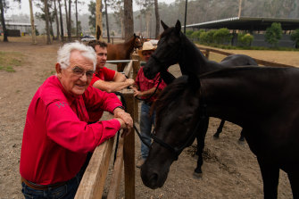 Willinga Park equine centre owner Terry Snow did not evacuate his premises on the NSW South Coast ahead of the bushfires in the region.