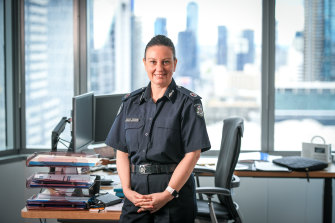 Lauren Callaway is the first woman Assistant Commissioner overseeing Victoria Police's family violence command.