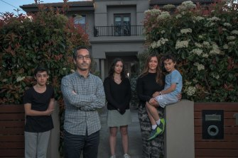 Anton Block with his wife Lana and children Jess, 16, Danny, 14 and Jake, 9.
