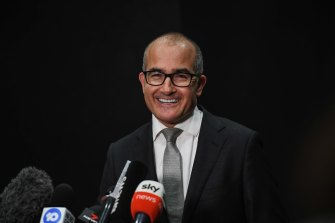 Acting Premier James Merlino announcing a slow easing of restrictions, which has generated some frustration among businesses.