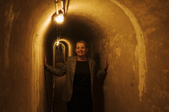 Federal Environment Minister Sussan Ley visits the North Fort within the North Head Sanctuary on Monday.