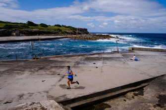 Clovelly Beach on Tuesday. Temperatures are set to climb in coming days.