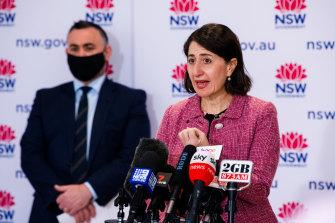NSW Premier Gladys Berejiklian at Friday's COVID-19 update.