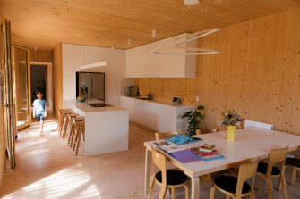 Inside the Helliers' passive house.