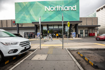 Retail workers also noticed an increase in foot traffic at Northland in Preston on Sunday.