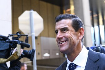 Ben Roberts-Smith outside the Federal Court on Wednesday.