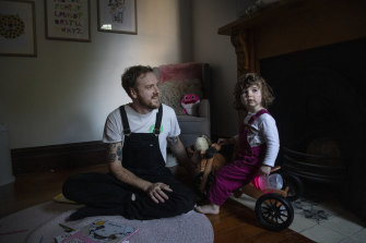 John Paine and his daughter Caterina meet few other dads with their kids at groups for primary carers.