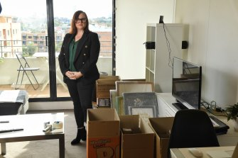 Packing up: Having lost her job as marketing manager at two big Sydney stadiums, Fiona Gulin is heading home to Melbourne.