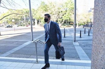 Ben Roberts-Smith arrives at the Federal Court for his defamation trial last week.