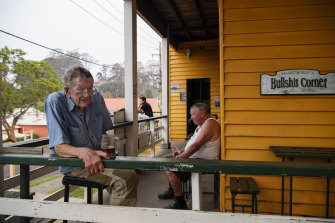 Richard Tilzey sits at his favourite spot at the Dromedary Hotel.