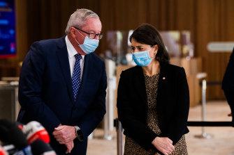 NSW Health Minister Brad Hazzard and Premier Gladys Berejiklian.
