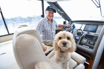 Peter Reed took his boat torescue people from Mallacoota.