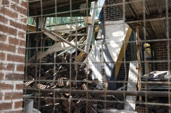 Two men have been freed after a building structure collapsed in Marsden Park.