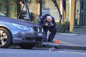 A 21-year-old was shot in Carlton about 4am on Saturday.
