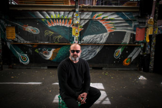 Section 8 owner Maz Salt objects to vaccine passports for his Melbourne bar customers.