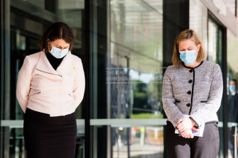 Tough times: NSW Premier Gladys Berejiklian, left, and the state's Chief Health Officer, Kerry Chant.