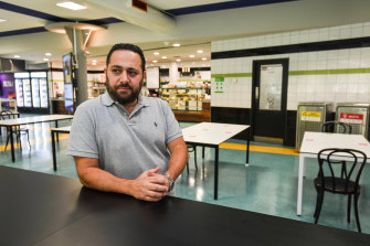 Cafe owner Sam Seoud says he could be forced to sack staff and close at least some outlets.