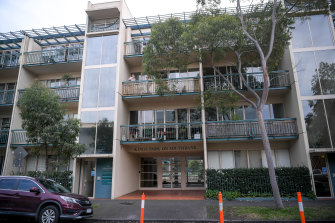 The Kings Park apartment complex in Southbank on Tuesday.