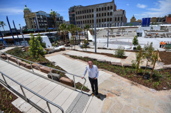 Stonnington mayor Steve Stefanopoulos at the new Prahran Square.