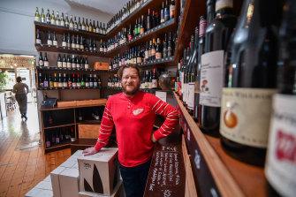Tim Cohen, owner ofBrunswick East Wine Store in Lygon Street.