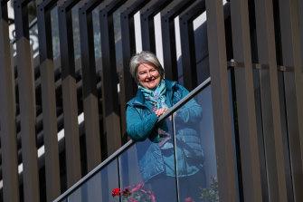 Susie White on herbalconyat her Hawthorn East apartment.