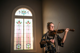 Australian National Academy of Music head of strings and MSO concertmaster Sophie Rowell.