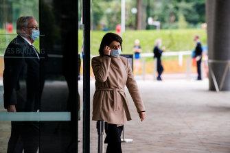 NSW Premier Gladys Berejiklian arriving for Wednesday's COVID-19 update.