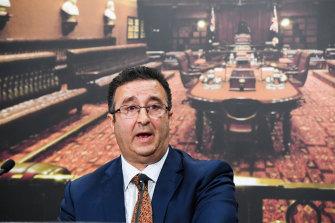 Shaoquett Moselmane speaks at NSW Parliament on Monday.