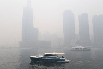 Thick smoke gripped Sydney during the 2020 bushfires.