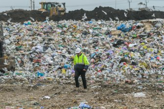Landfill in Victoria. Most recyclable beauty packaging ends up contributing to our pollution problem.