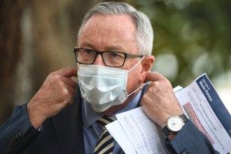 Health Minister Brad Hazzard on Tuesday.