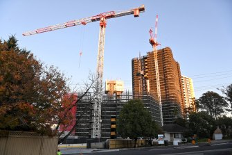 The Skyview development on Old Castle Hill Road in Sydney's north-west.