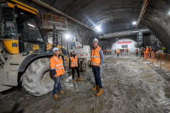 The equivalent of 17 Olympic swimming pools have been excavated for the Metro Tunnel's Town Hall Station.