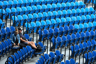 The crowds have been noticeably down on days one and two at the Australian Open this year.