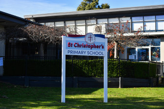 St Christopher's primary school in Glen Waverley is reporting very strong demand for places in 2021.
